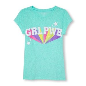 Children's Place Girl Power Tee 10-12, 16